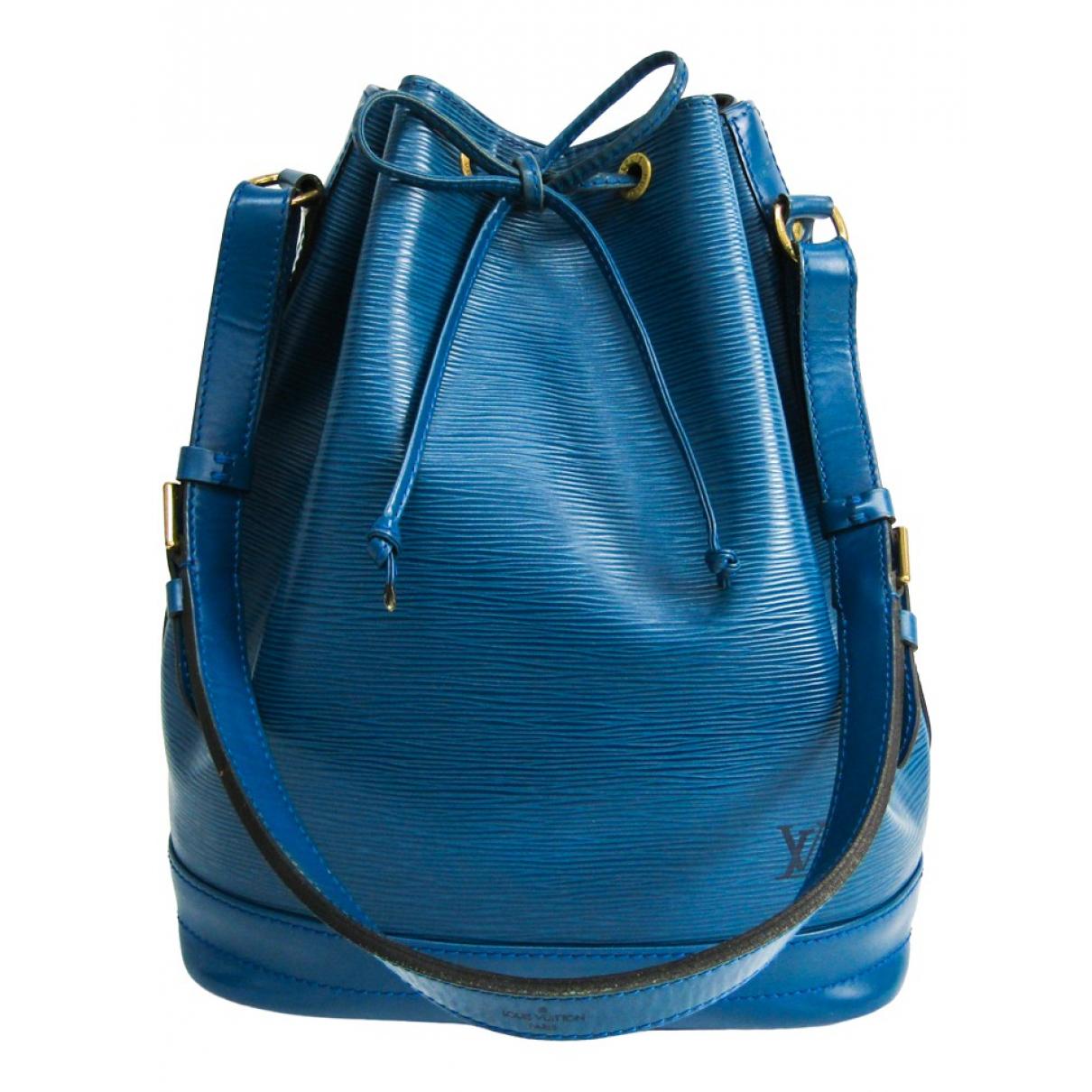 Louis Vuitton Noé Blue Leather handbag for Women \N