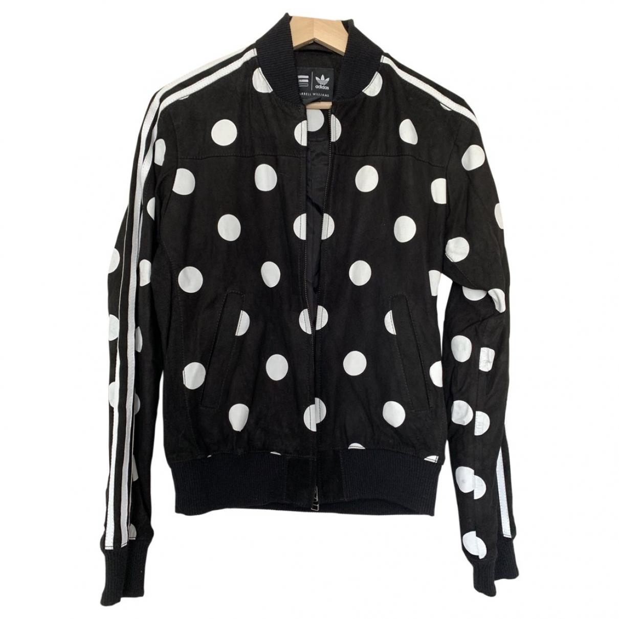 Adidas X Pharrell Williams \N Black Leather Leather jacket for Women XS International