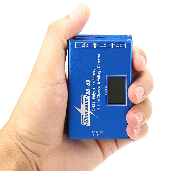 Charsoon DC-4S 2-4S Li-poly/Li-ion Battery Balance Charger & Voltage Detector with Power Adapter for RC Drone