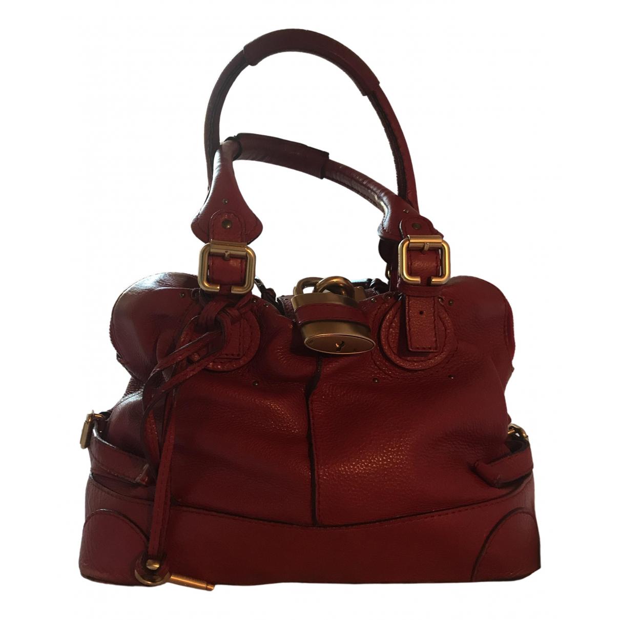 Chloé Paddington Red Leather handbag for Women \N