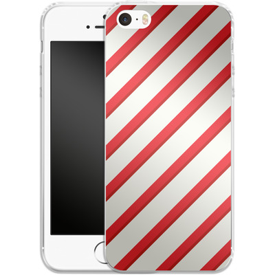 Apple iPhone SE Silikon Handyhuelle - Candy Cane von caseable Specials
