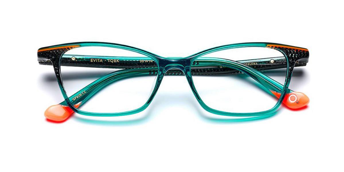 Etnia Barcelona Evita TQBK Women's Glasses Blue Size 50 - Free Lenses - HSA/FSA Insurance - Blue Light Block Available