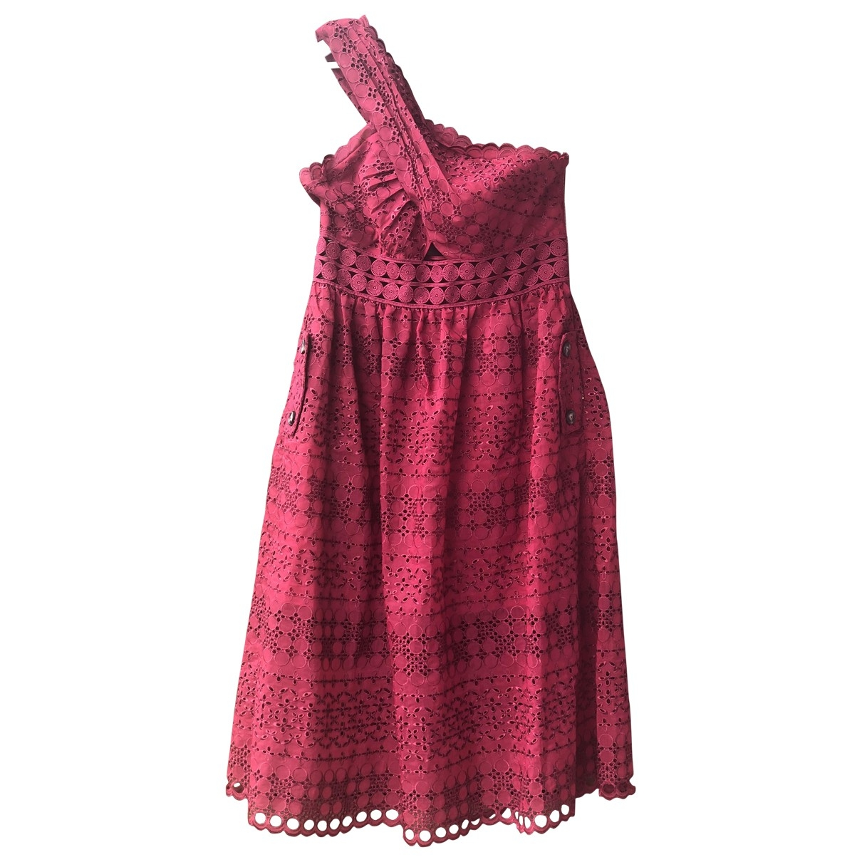 Self Portrait \N Burgundy Cotton dress for Women 14 UK