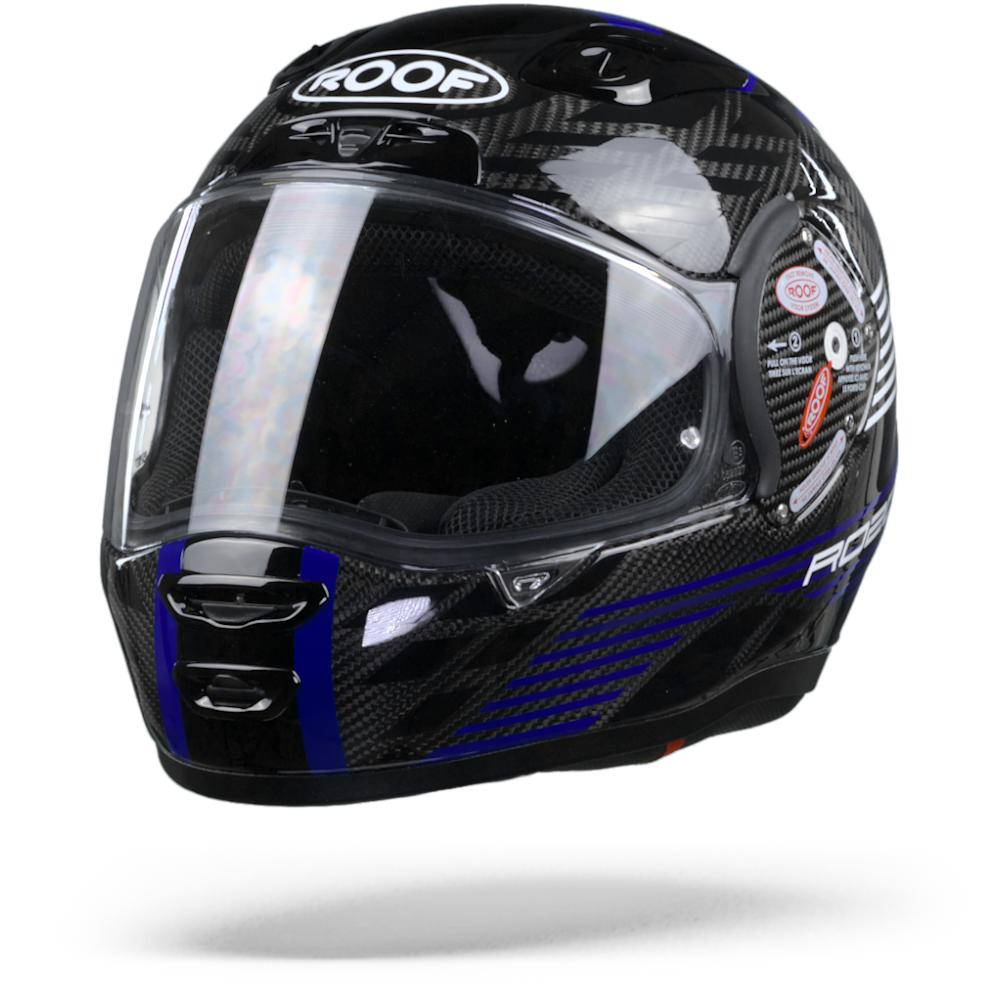 ROOF RO200 Carbon Speeder Casque Integral Noir Bleu L