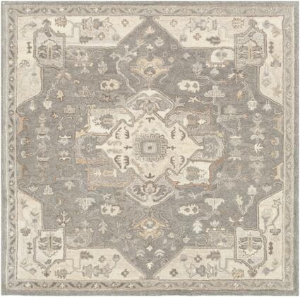 Caesar CAE-1196 6' Square Traditional Rug in