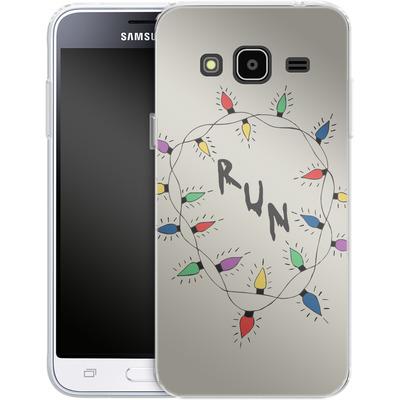 Samsung Galaxy J3 (2016) Silikon Handyhuelle - RUN von caseable Designs