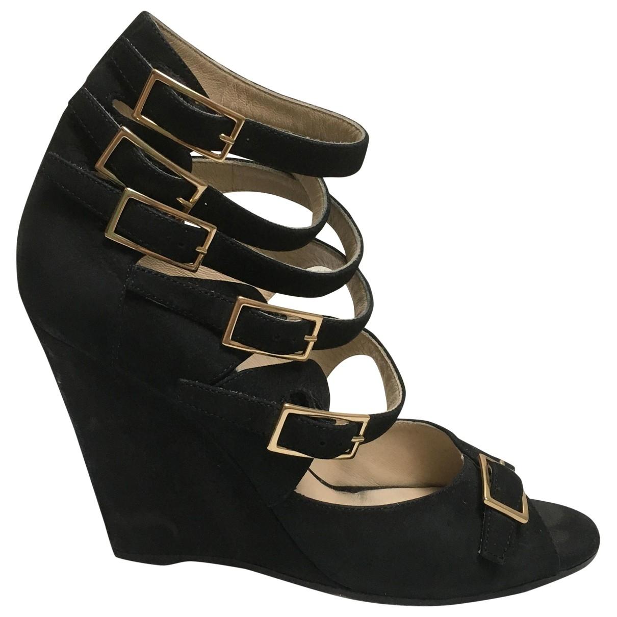 Chloé \N Black Leather Sandals for Women 36.5 EU