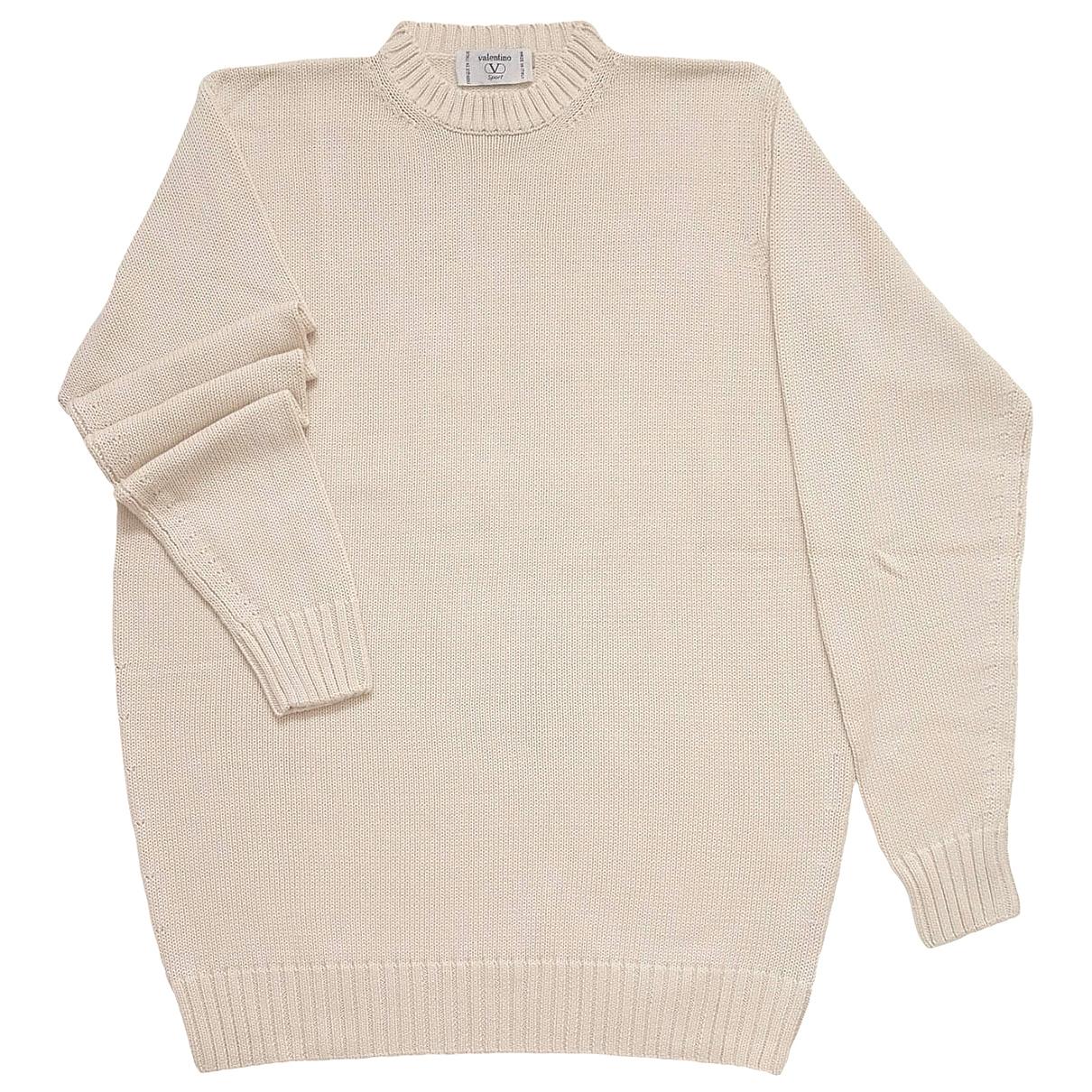 Valentino Garavani \N Pullover.Westen.Sweatshirts  in  Beige Baumwolle