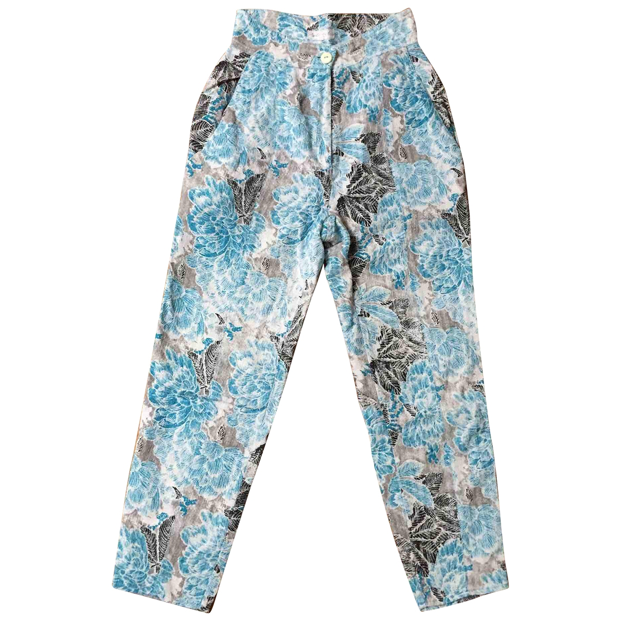 Non Signé / Unsigned \N Multicolour Cotton Trousers for Women XS International