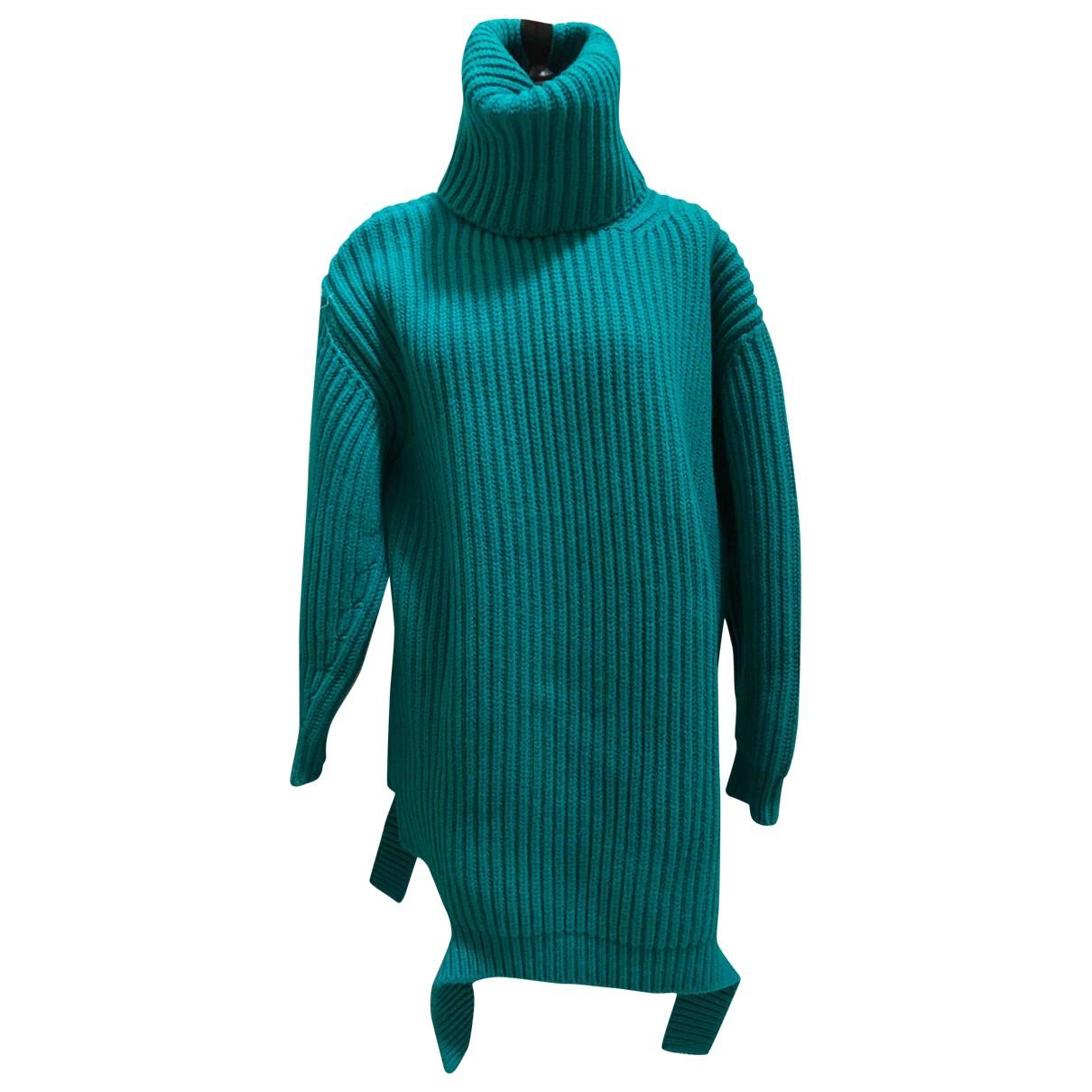 Balenciaga - Pull   pour femme en laine - turquoise