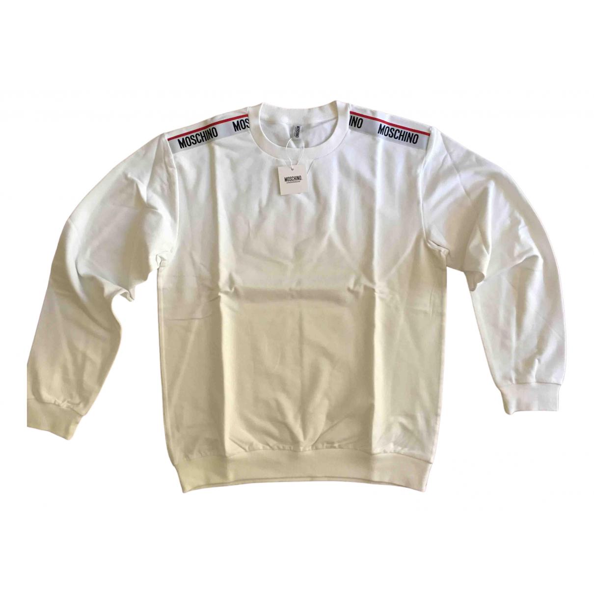 Moschino - Pulls.Gilets.Sweats   pour homme en coton - blanc