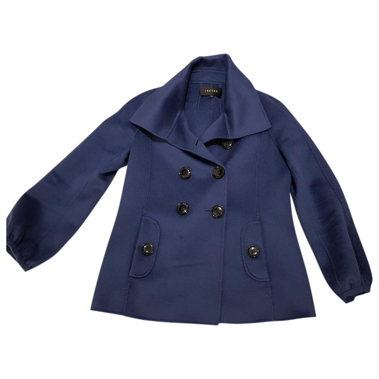 Jaeger - Manteau   pour femme en laine - bleu