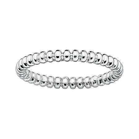 Personally Stackable Sterling Silver Stackable 3.5mm Beaded Ring, 7 , No Color Family