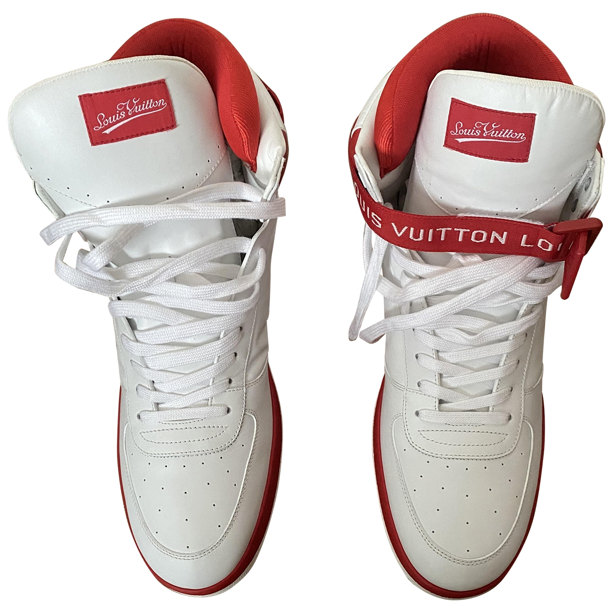Louis Vuitton Rivoli White Leather Trainers for Men 10 US