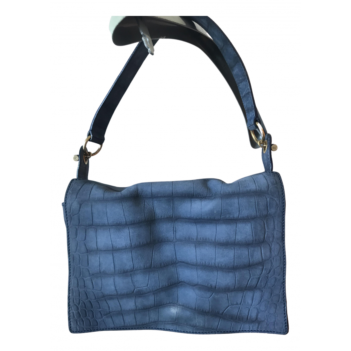 Yves Saint Laurent N Blue Leather handbag for Women N