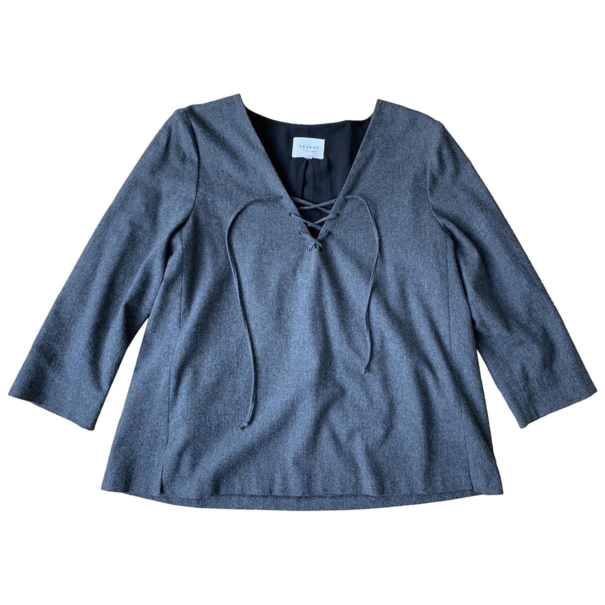 Sezane \N Top in  Grau Wolle