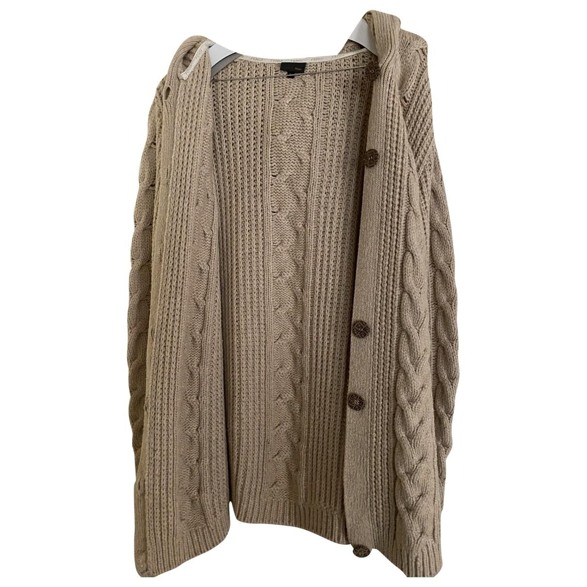 Fendi - Pull   pour enfant en laine - beige