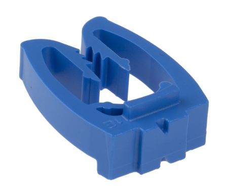 HellermannTyton Smart Meter Push On Cable Marker, Pre-printed N Blue