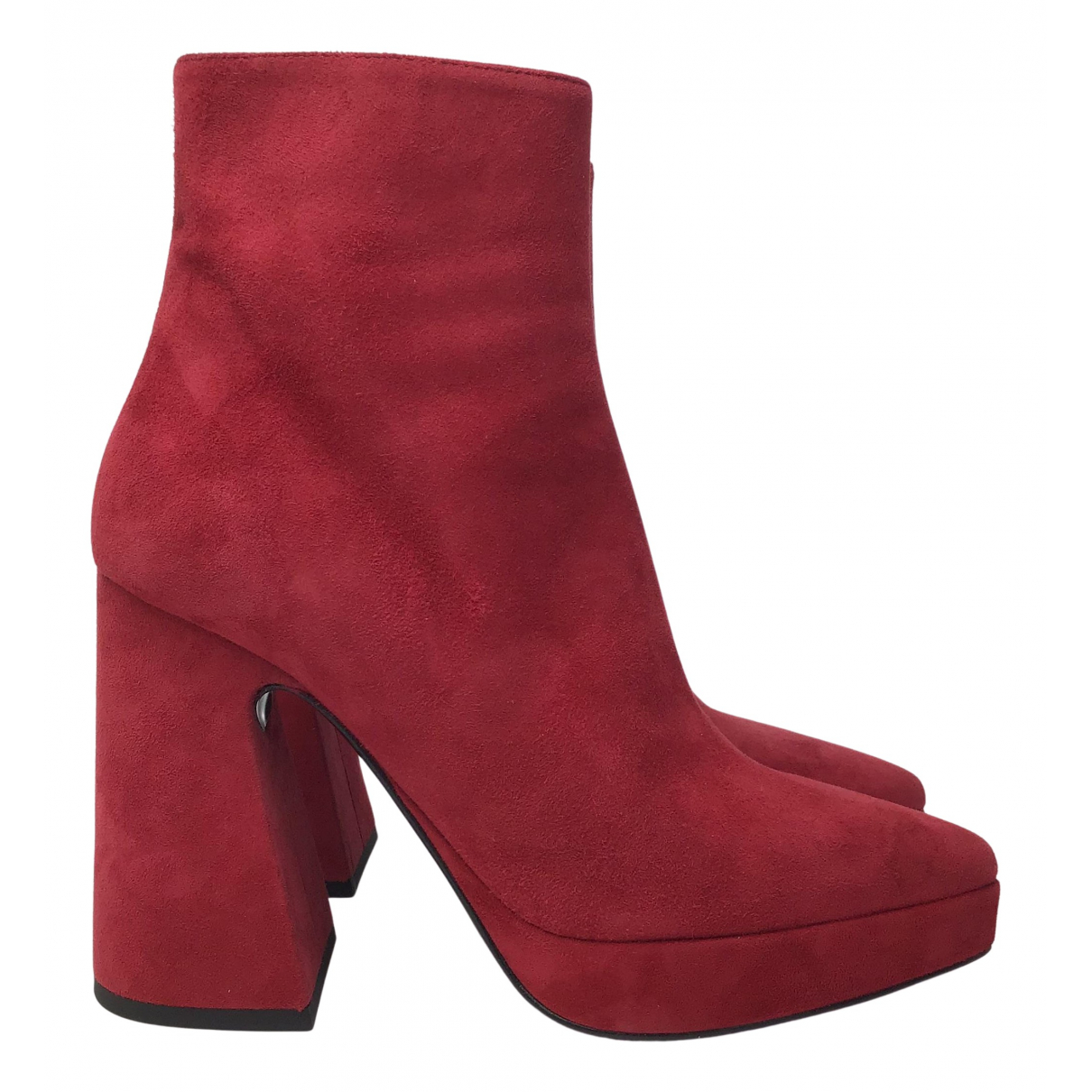Proenza Schouler N Red Suede Ankle boots for Women 39.5 EU