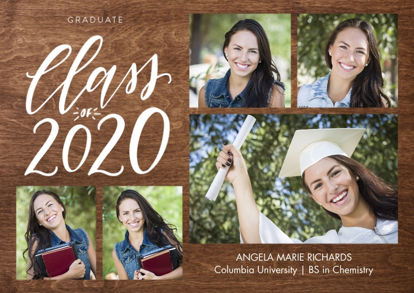 2020 Graduation Announcements 5x7 Cards, Premium Cardstock 120lb with Elegant Corners, Card & Stationery -2020 Shining Year by Tumbalina