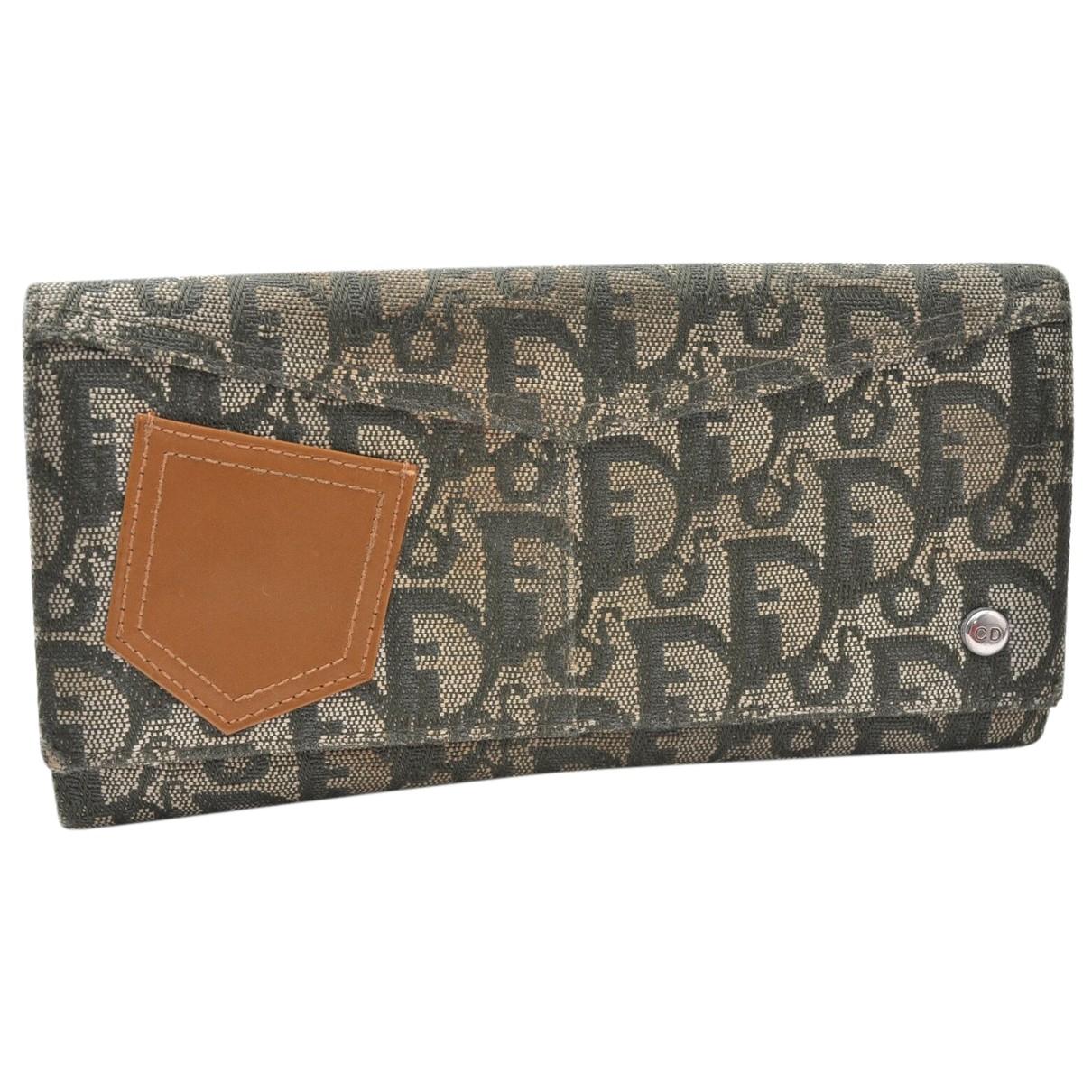 Dior - Portefeuille   pour femme en toile - vert