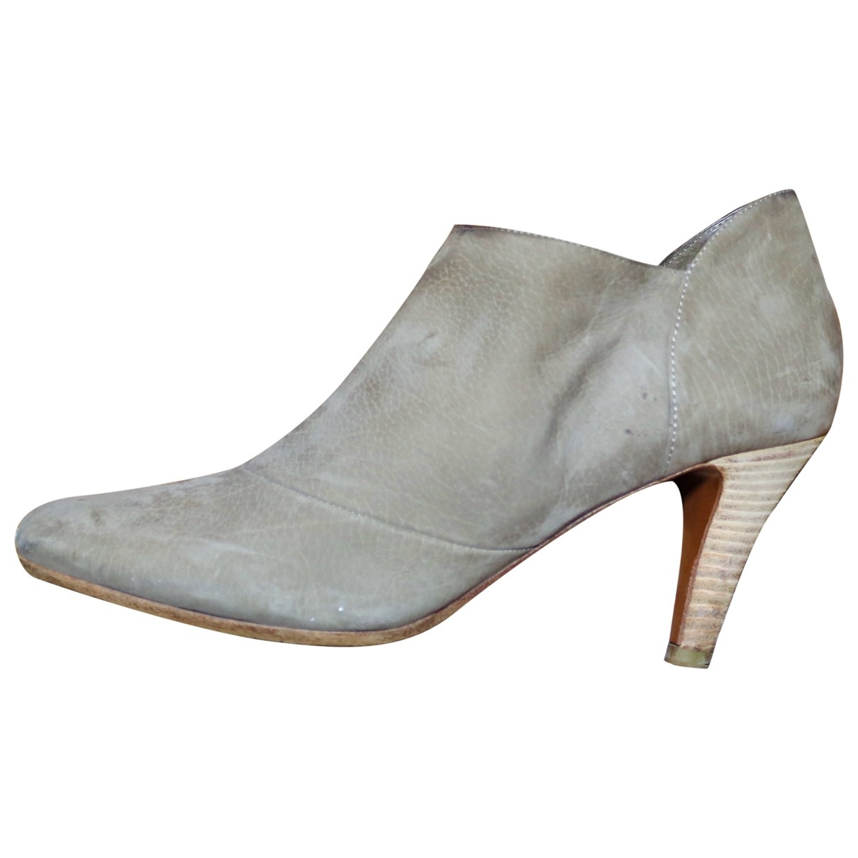 Michel Perry \N Beige Suede Ankle boots for Women 36.5 EU