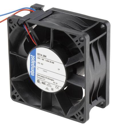 ebm-papst , 24 V dc, DC Axial Fan, 80 x 80 x 38mm, 222m³/h, 38W
