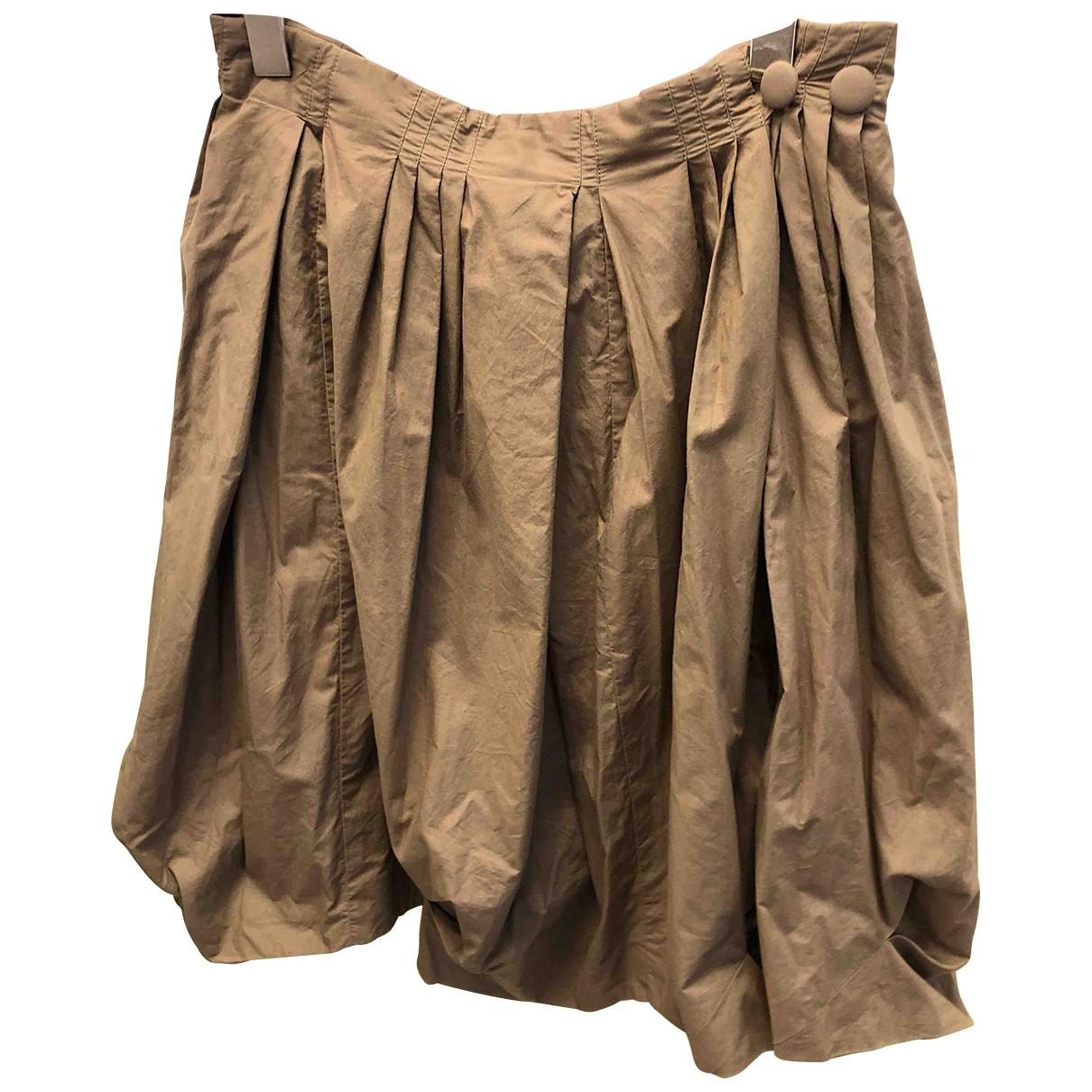 Acne Studios \N Khaki Cotton skirt for Women 36 IT