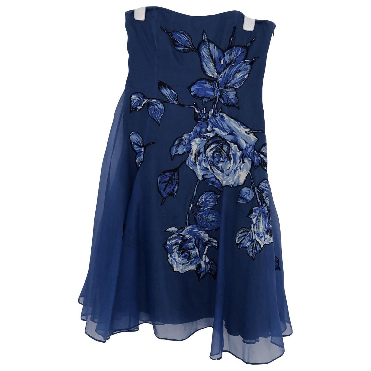 Coast - Robe   pour femme en soie - bleu