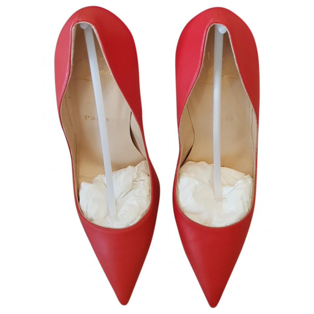 Christian Louboutin So Kate  Orange Leather Heels for Women 38 IT