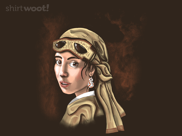 The Girl With The Droid Earring T Shirt