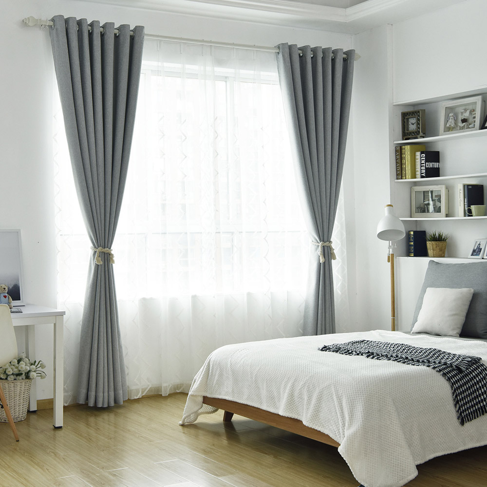 Modern Geometric Embroidered Custom Living Room Sheer Curtains Breathable Voile Drapes Never Fading Cracking Peeling or Flaking