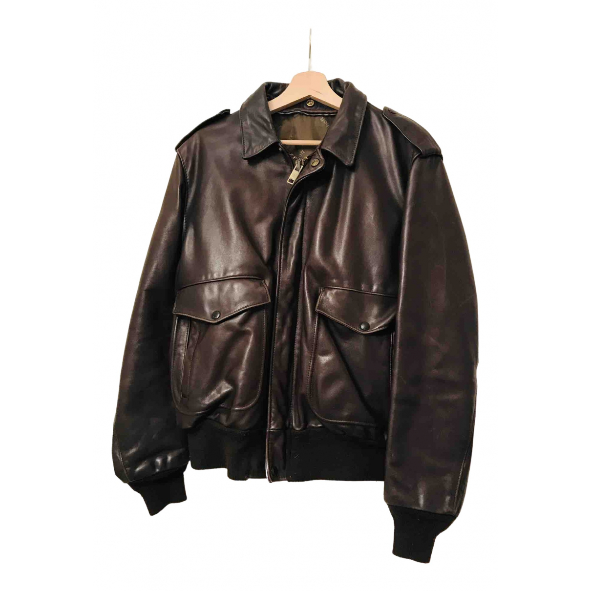 Schott \N Brown Leather Leather jacket for Women 40 IT