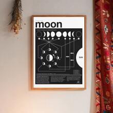 Pintura de pared con estampado de luna sin marco