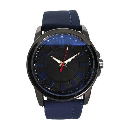 Olivia Pratt Womens Blue Strap Watch-D26800navy, One Size , No Color Family