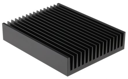 ABL Components Heatsink, Universal Rectangular Alu, 0.55K/W, 200 x 160 x 40mm, Black