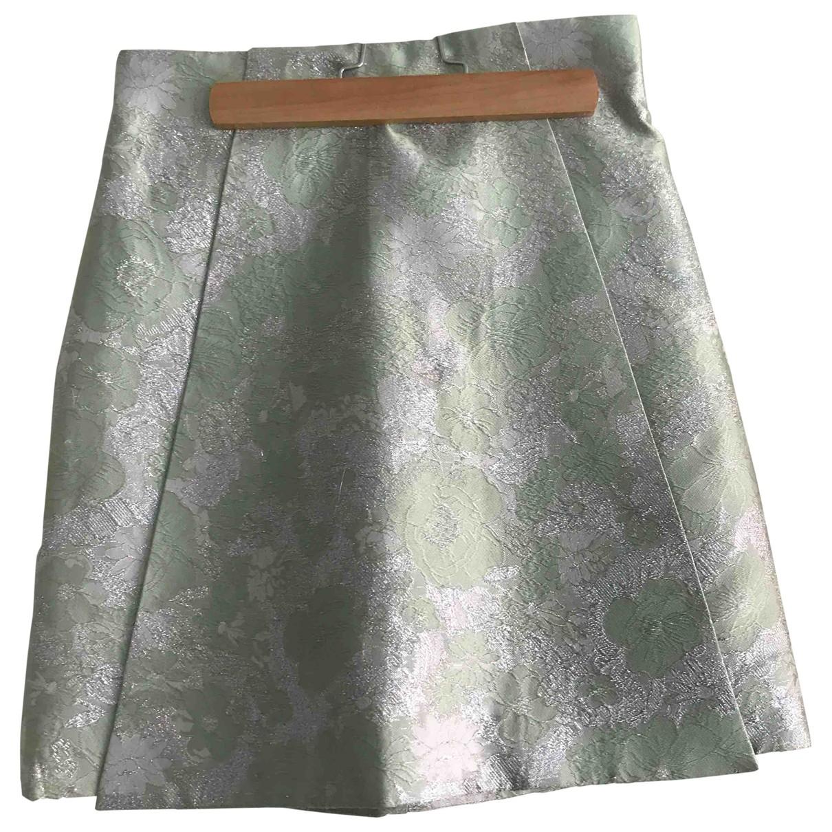Christopher Kane \N Green Silk skirt for Women 6 UK