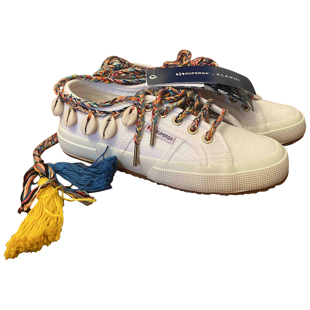 Alanui \N Sneakers in  Weiss Leinen