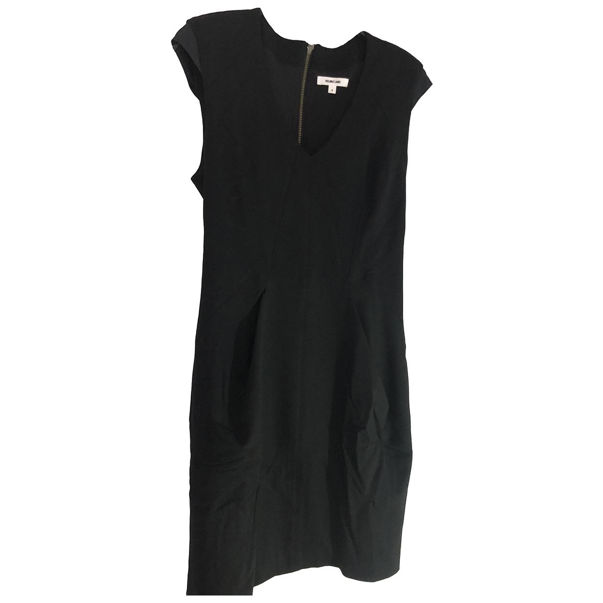 Helmut Lang \N Kleid in  Schwarz Wolle