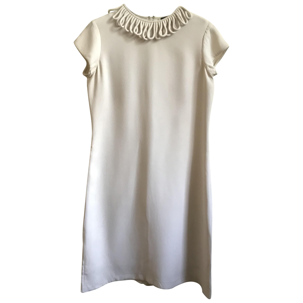 Raoul \N Beige Silk dress for Women 36 FR