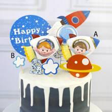 1pc Rocket Astronaut Cartoon Decorative Object