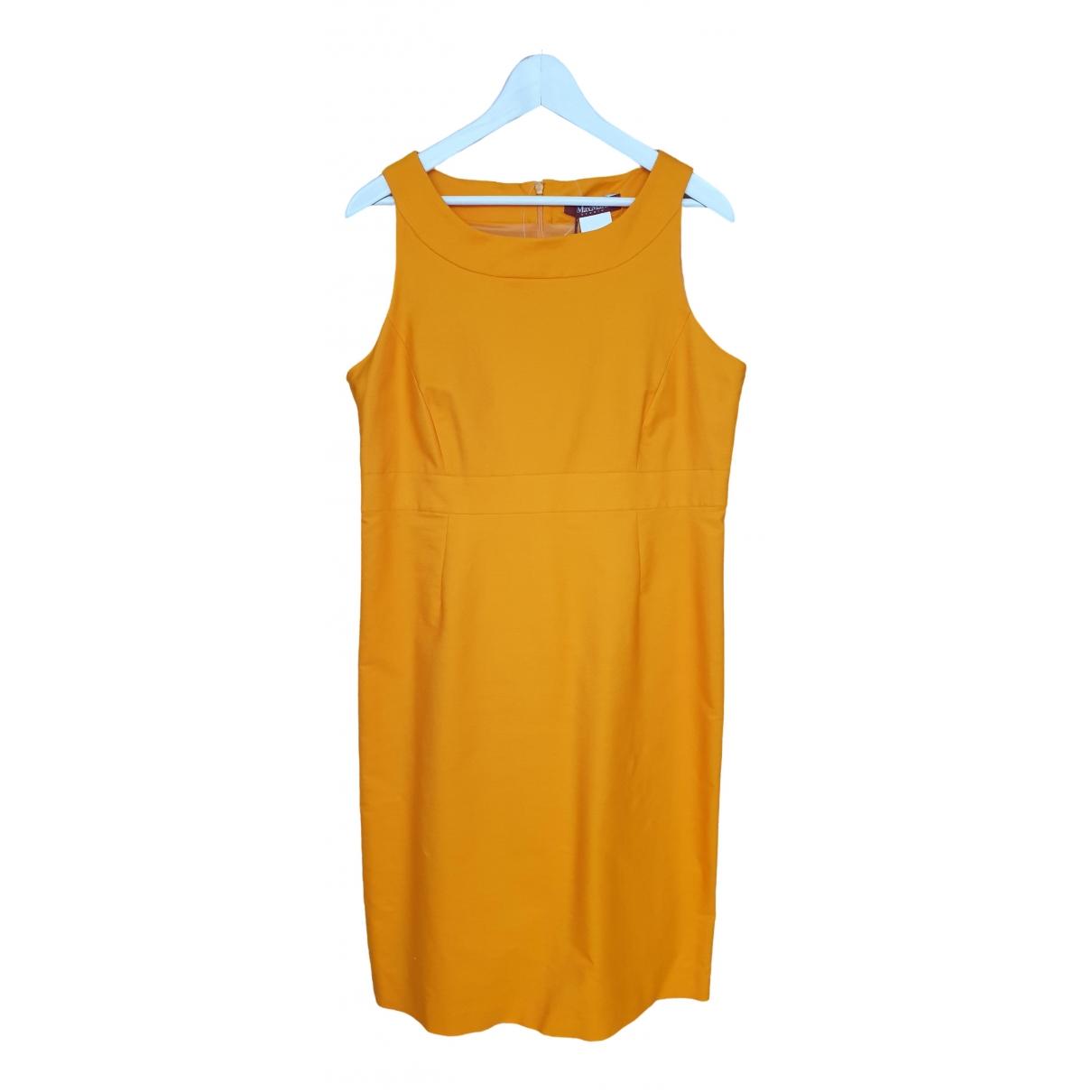 Max Mara Studio \N Orange Cotton dress for Women 48 IT