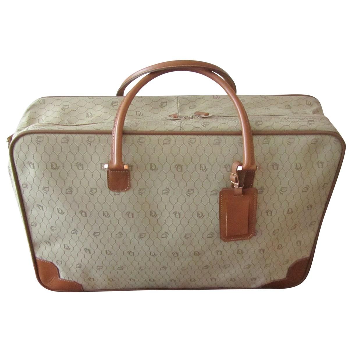 Dior - Sac de voyage   pour femme en toile - beige