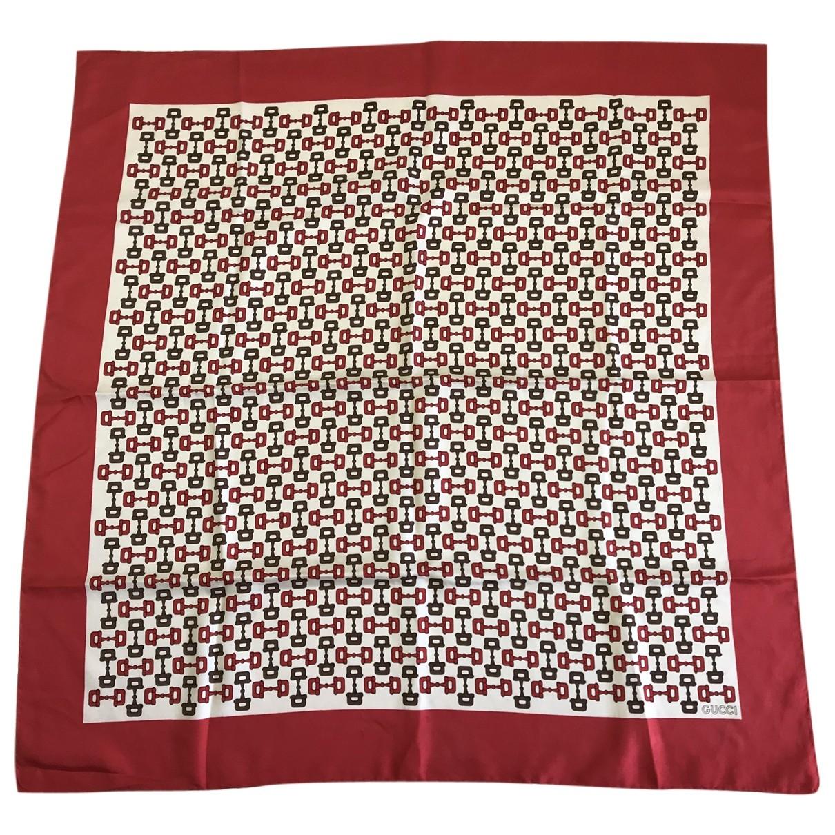 Gucci \N Red Silk scarf for Women \N