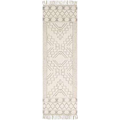 Cheyenne CHY-2303 26 x 8 Runner Global Rug in Medium Gray  Cream  White