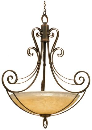 Mirabelle 5196PS/BUDDA 50 Pendant in Pearl Silver with Buddha Leaf Natural Bowl Glass
