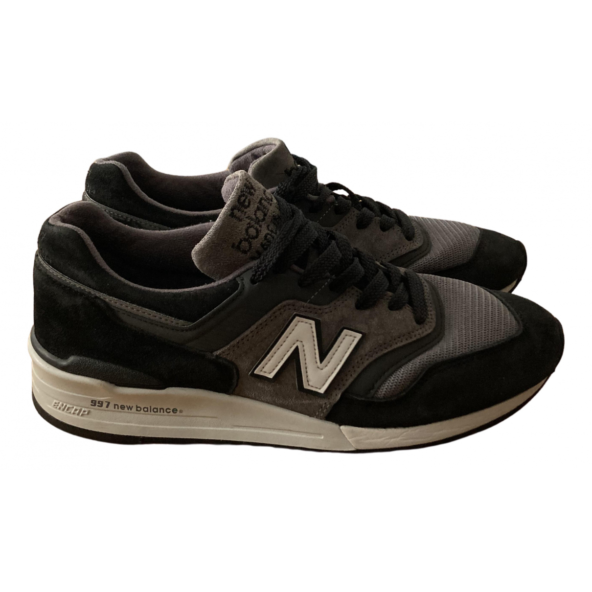 New Balance \N Anthracite Leather Trainers for Men 44.5 EU