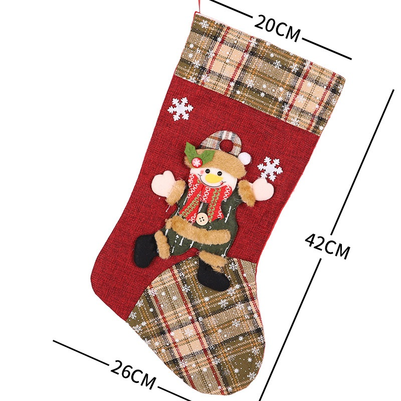 Ericdress Socks Color Block Christmas Decoration Slim Supplies