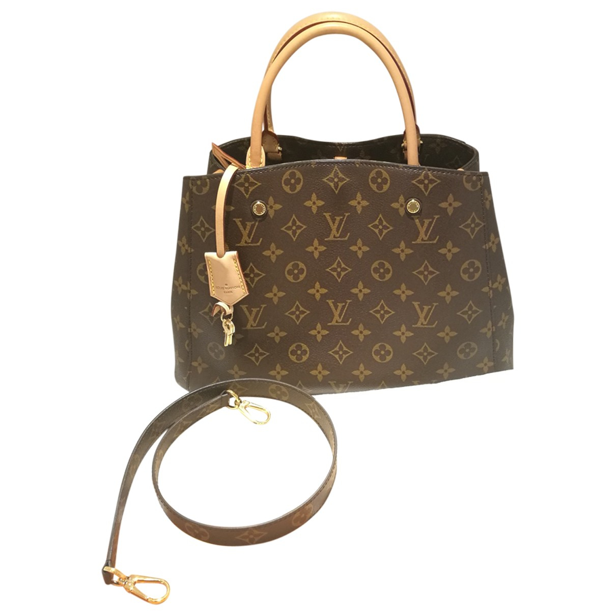 Bolso  Montaigne de Lona Louis Vuitton