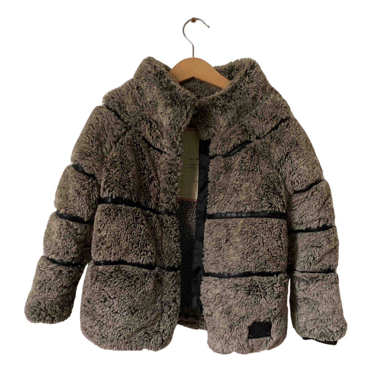 Ikks N Grey Faux fur jacket & coat for Kids 4 years - up to 102cm FR